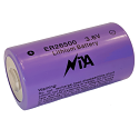 3.6 Volt 9000 mAh C Lithium Button Top Battery