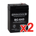 BC-645F1 SLA Battery Set ot Two
