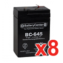BC-645F1 SLA Battery Set ot Eight