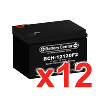 12v 12Ah SLA (sealed lead acid) High Rate Battery Set of Twelve