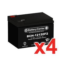 12v 12Ah SLA (sealed lead acid) High Rate Battery Set of Four