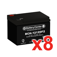 12v 12Ah SLA (sealed lead acid) High Rate Battery Set of Eight