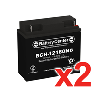 12v 18Ah SLA (sealed lead acid) High Rate Battery Set of Two