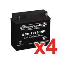 12v 18Ah SLA (sealed lead acid) High Rate Battery Set of Four