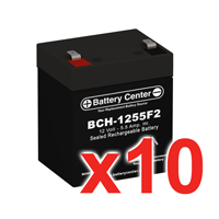 12v 5.5Ah SLA (sealed lead acid) High Rate Battery Set of Ten
