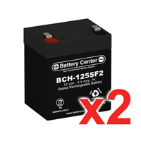 12v 5.5Ah SLA (sealed lead acid) High Rate Battery Set of Two