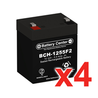 12v 5.5Ah SLA (sealed lead acid) High Rate Battery Set of Four