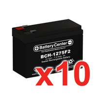 12v 7.5Ah SLA (sealed lead acid) High Rate Battery Set of Ten