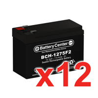12v 7.5Ah SLA (sealed lead acid) High Rate Battery Set of Twelve