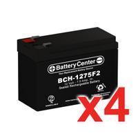 12v 7.5Ah SLA (sealed lead acid) High Rate Battery Set of Four