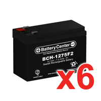 12v 7.5Ah SLA (sealed lead acid) High Rate Battery Set of Six
