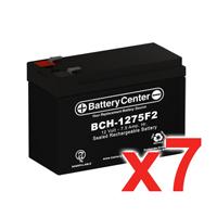 12v 7.5Ah SLA (sealed lead acid) High Rate Battery Set of Seven
