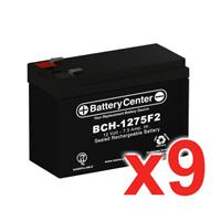 12v 7.5Ah SLA (sealed lead acid) High Rate Battery Set of Nine