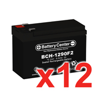 12V 9Ah SLA (sealed lead acid) High Rate Battery Set of Twelve