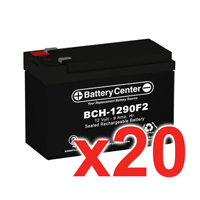 12V 9Ah SLA (sealed lead acid) High Rate Battery Set of Twenty