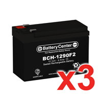 12v 9Ah SLA (sealed lead acid) High Rate Battery Set of Three