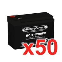 12V 9Ah SLA (sealed lead acid) High Rate Battery Set of Fifty