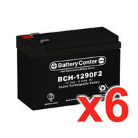 12V 9Ah SLA (sealed lead acid) High Rate Battery Set of Six