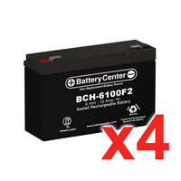 6v 12Ah High Rate SLA (sealed lead acid) Battery Set of Four