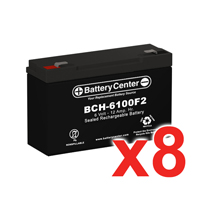 6v 12Ah High Rate SLA (sealed lead acid) Battery Set of Eight