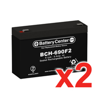 6v 9Ah High-Rate SLA (sealed lead acid) Battery Set of Two