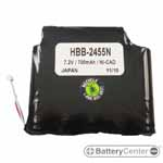 HBB-2455N barcode scanner 7.2 volt 700 mAh battery