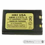 HBM-1727L-2 barcode scanner 3.7 volt 1900 mAh battery