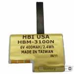 HBM-3100N barcode scanner 6 volt 400 mAh battery