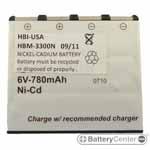 HBM-3300N barcode scanner 6 volt 700 mAh battery