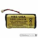 HBM-LS4278 barcode scanner 3.6 volt 730 mAh battery