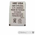 HBM-SYM1000L barcode scanner 3.7 volt 1850 mAh battery