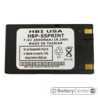 HBP-SSPRINT barcode printer 7.4 volt 2600 mAh battery