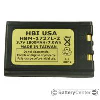 HBM-1727L-2 barcode scanner 3.7 volt 1900 mAh battery
