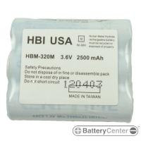 HBM-320M barcode scanner 3.6 volt 2500 mAh battery