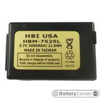HBM-7525L barcode scanner 3.7 volt 3400 mAh battery
