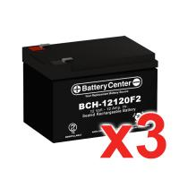 12v 12Ah SLA (sealed lead acid) High Rate Battery Set of Three
