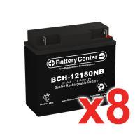 12v 18Ah SLA (sealed lead acid) High Rate Battery Set of Eight
