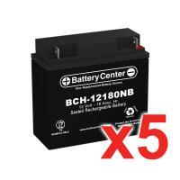12v 18Ah SLA (sealed lead acid) High Rate Battery Set of Five