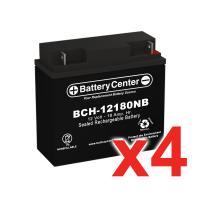 12v 18Ah SLA (sealed lead acid) High Rate Battery Set of Four