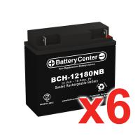 12v 18Ah SLA (sealed lead acid) High Rate Battery Set of Six