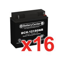12v 18Ah SLA (sealed lead acid) High Rate Battery Set of Sixteen