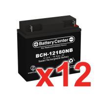 12v 18Ah SLA (sealed lead acid) High Rate Battery Set of Twelve