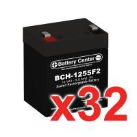12v 5.5Ah SLA (sealed lead acid) High Rate Battery Set of 32