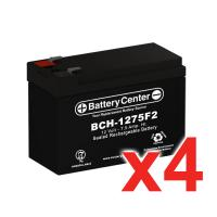 12v 7.5Ah SLA (sealed lead acid) High Rate Battery Set of Four