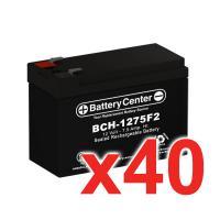 12v 7.5Ah SLA (sealed lead acid) High Rate Battery Set of Forty