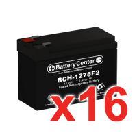 12v 7.5Ah SLA (sealed lead acid) High Rate Battery Set of Sixteen