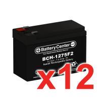 12v 7.5Ah SLA (sealed lead acid) High Rate Battery Set of Twelve