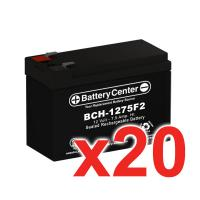 12v 7.5Ah SLA (sealed lead acid) High Rate Battery Set of Twenty