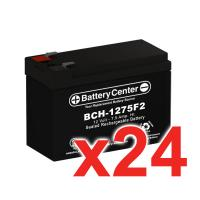 12v 7.5Ah SLA (sealed lead acid) High Rate Battery Set of Twenty four