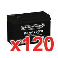 12V 9Ah SLA (sealed lead acid) High Rate Battery Set of 120